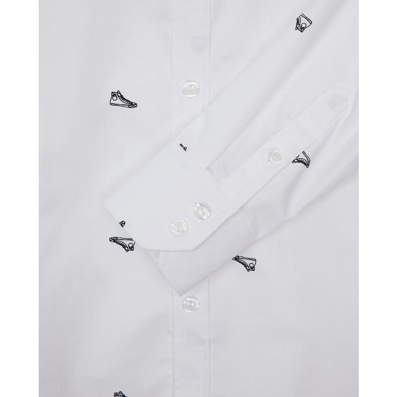 Белая рубашка с принтом Gulliver (фото 5)