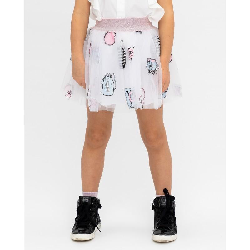Белая юбка с принтом Gulliver (фото 2)