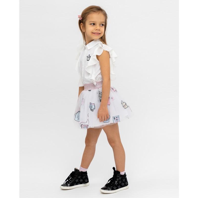 Белая юбка с принтом Gulliver (фото 3)