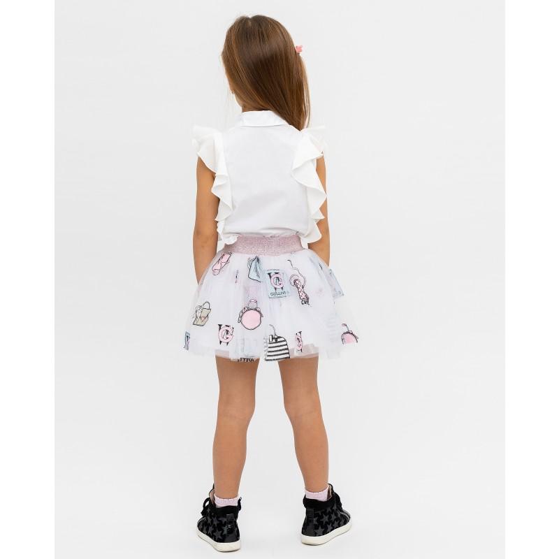 Белая юбка с принтом Gulliver (фото 4)
