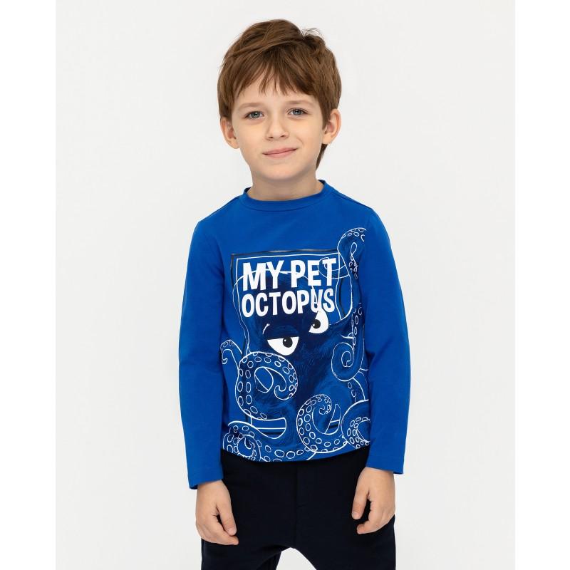 Синяя футболка с длинным рукавом Gulliver