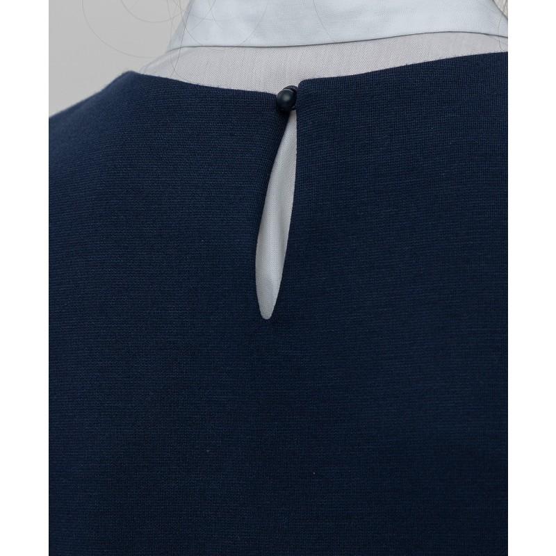 Синее трикотажное платье Button Blue (фото 5)
