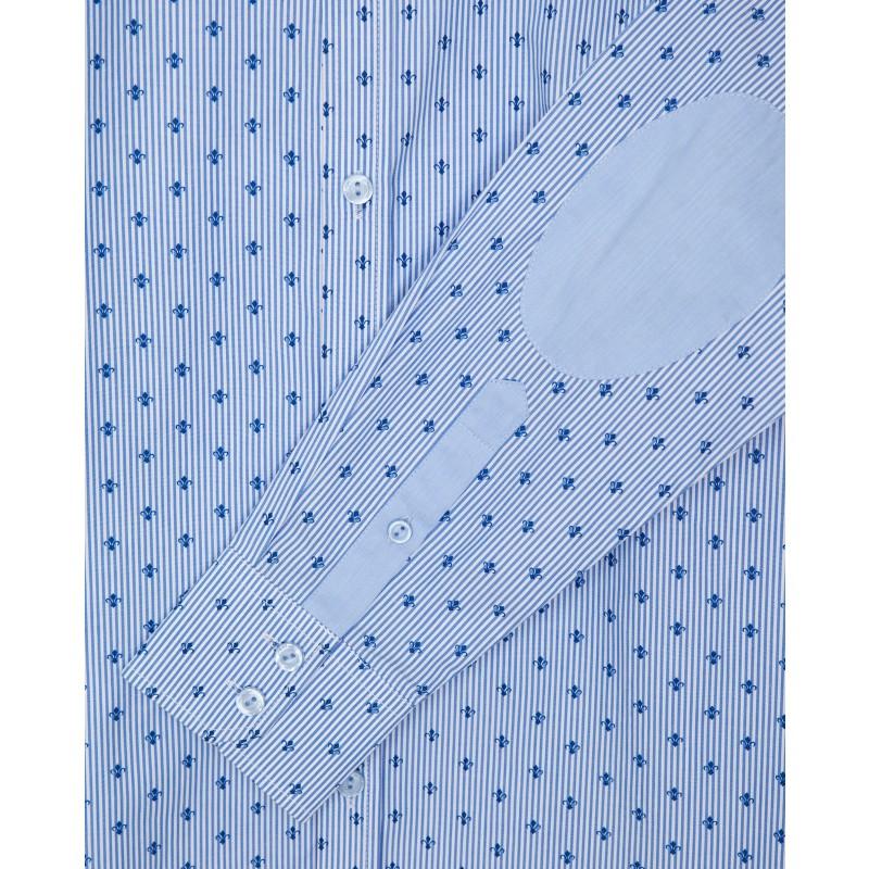Голубая рубашка с принтом Gulliver (фото 5)
