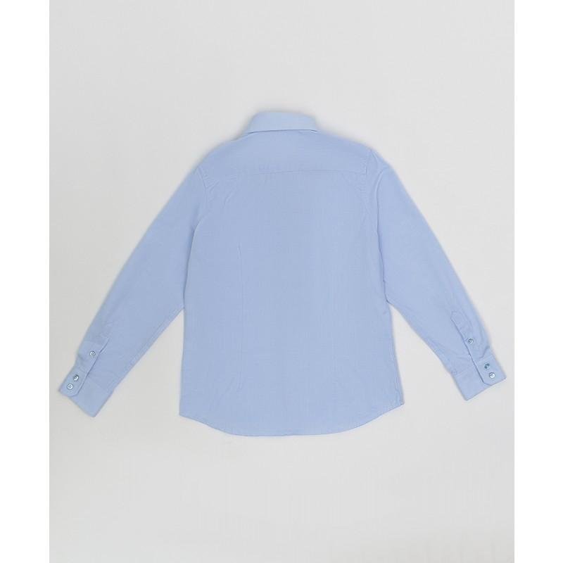 Голубая фактурная рубашка Button Blue (фото 2)