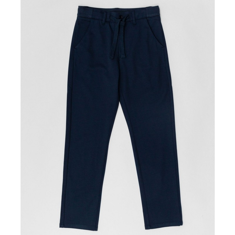 Синие брюки на шнурке Button Blue