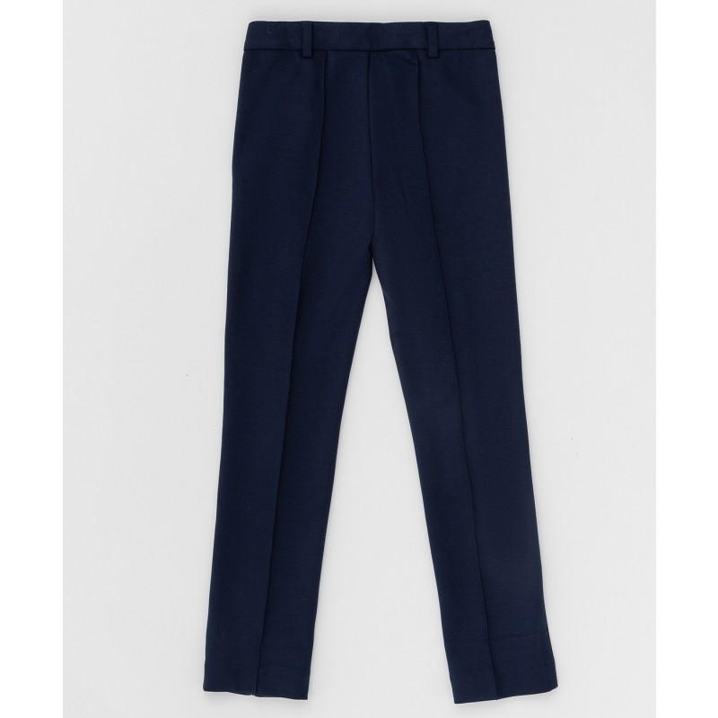 Синие трикотажные брюки Button Blue (фото 2)