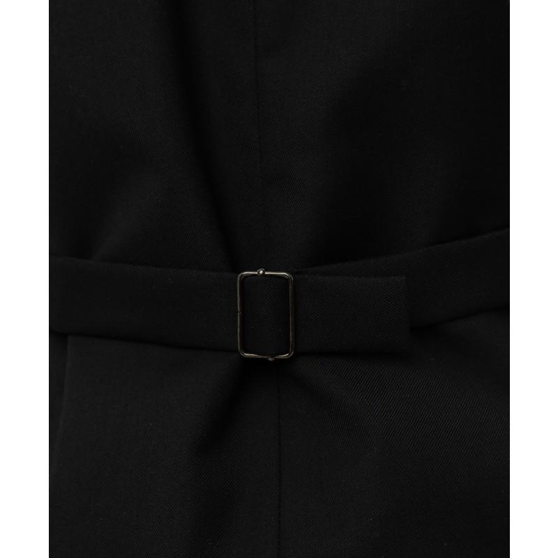 Черный удлиненный жилет Button Blue (фото 5)