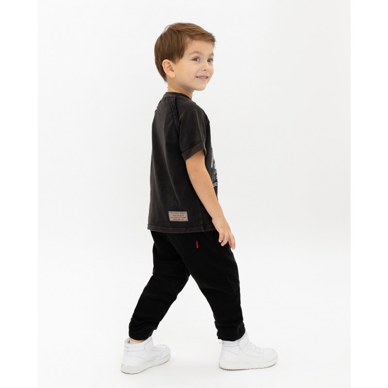 Черная футболка с принтом Gulliver (фото 3)