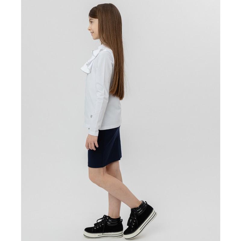 Белая блузка с жабо Button Blue (фото 3)