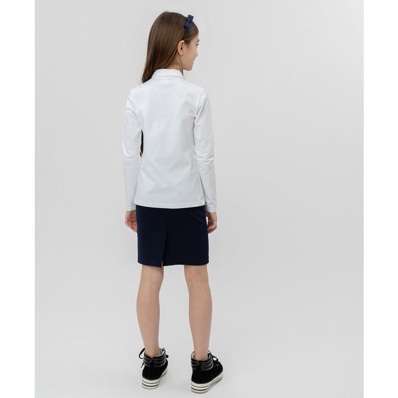 Белая блузка с жабо Button Blue (фото 4)