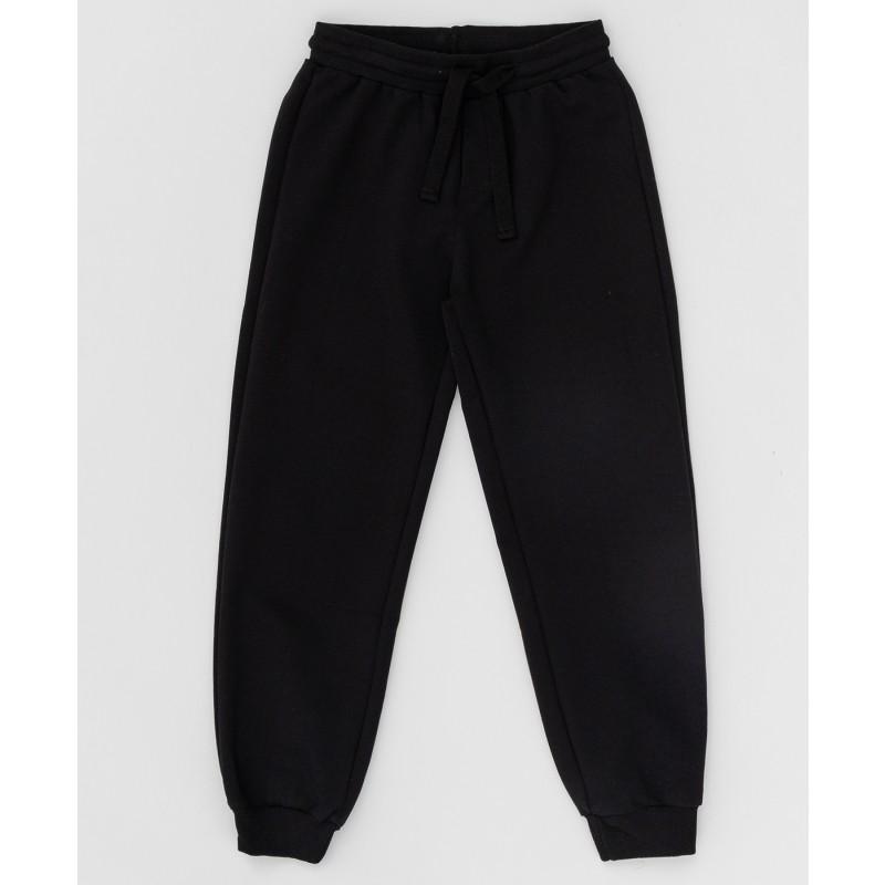 Черные брюки из футера Button Blue