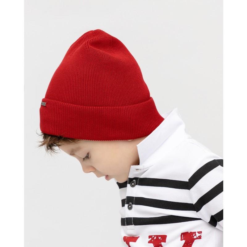 Красная вязаная шапка Gulliver (фото 2)
