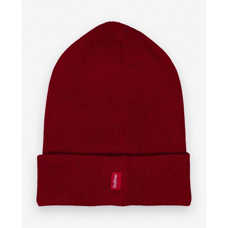 Красная вязаная шапка Gulliver (фото 5)
