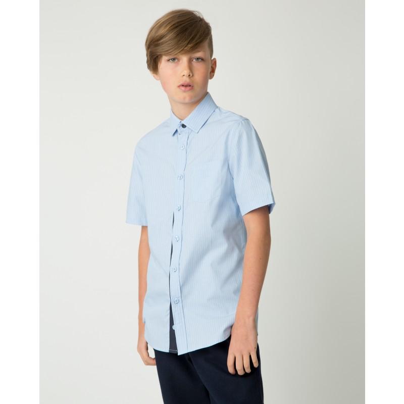 Голубая рубашка в полоску Gulliver