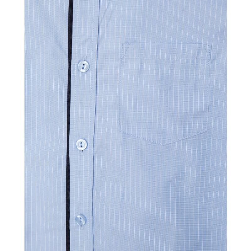 Голубая рубашка в полоску Gulliver (фото 5)