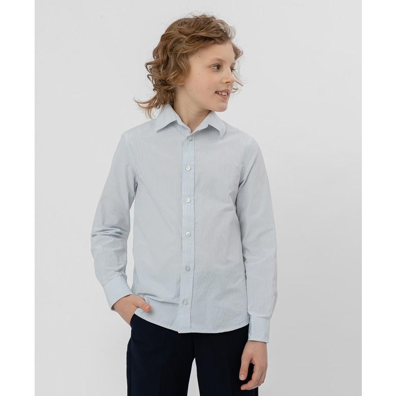 Серая рубашка в полоску Button Blue