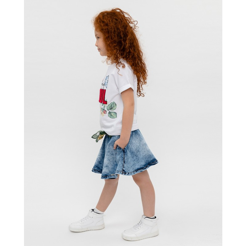 Белая футболка с принтом Gulliver (фото 3)