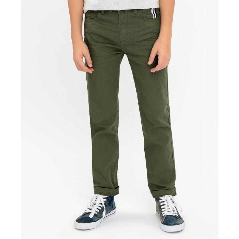 Твиловые брюки цвета хаки Button Blue (фото 3)