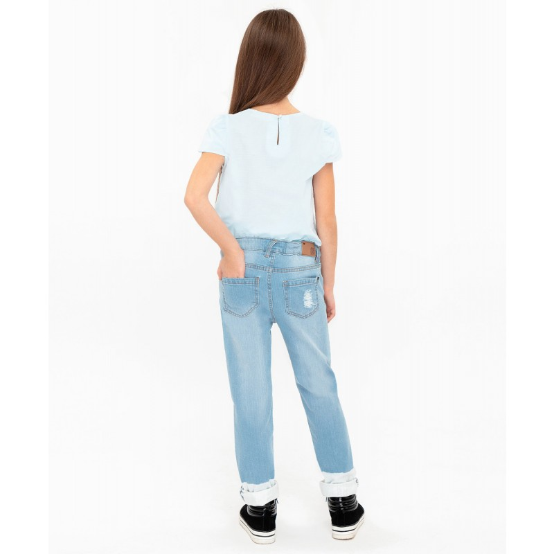 Джинсы Slim fit Button Blue (фото 4)