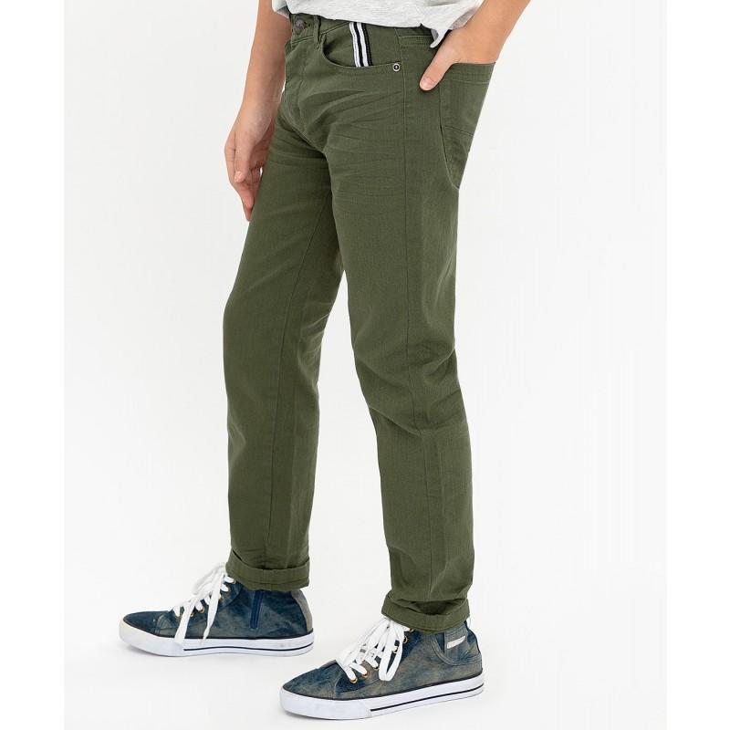 Твиловые брюки цвета хаки Button Blue (фото 5)