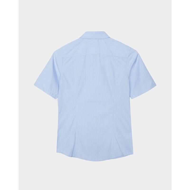 Голубая рубашка в полоску Gulliver (фото 4)