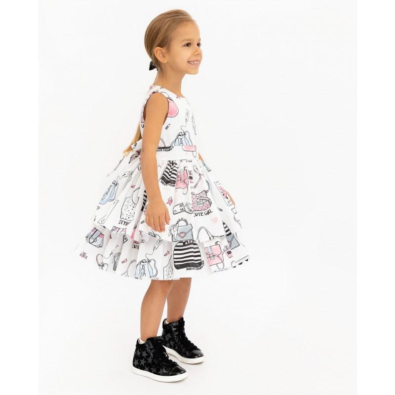 Белое платье с принтом Gulliver (фото 3)