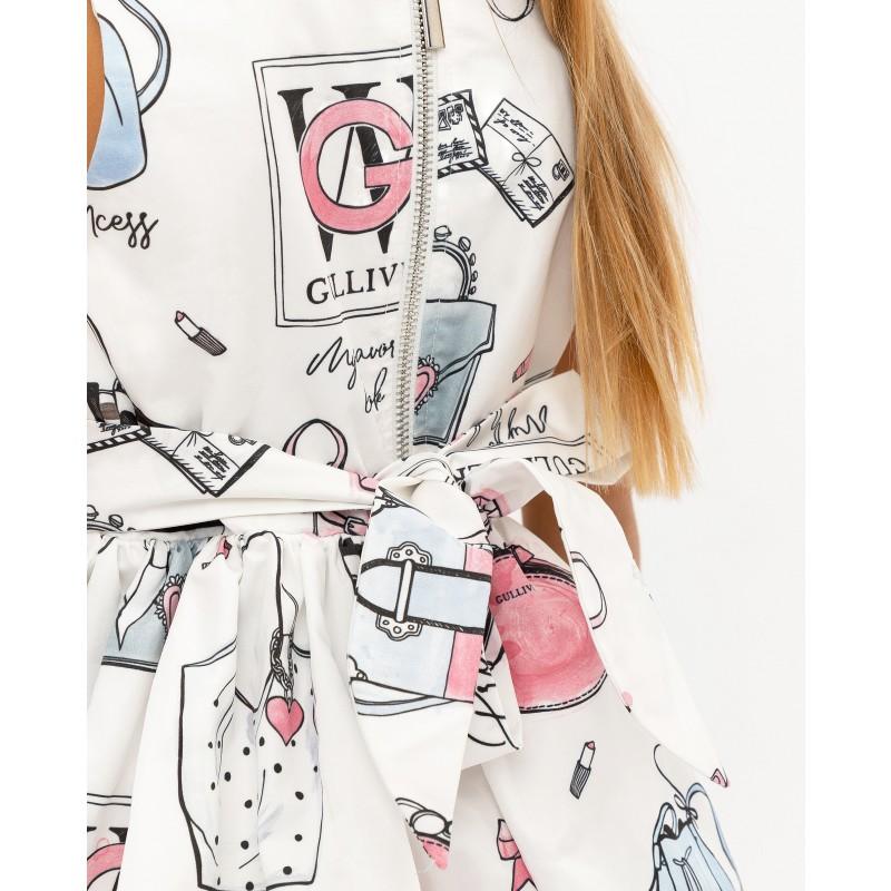 Белое платье с принтом Gulliver (фото 5)