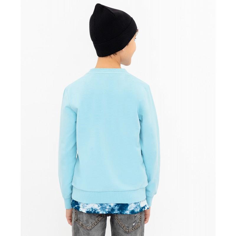Голубая толстовка Button Blue (фото 5)