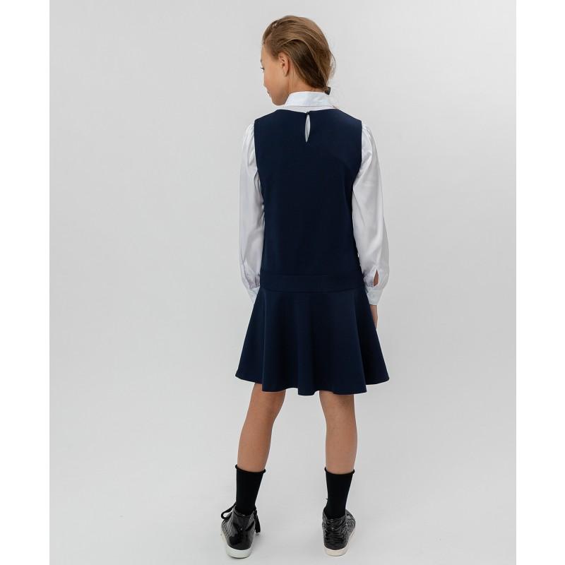 Синее трикотажное платье Button Blue (фото 4)