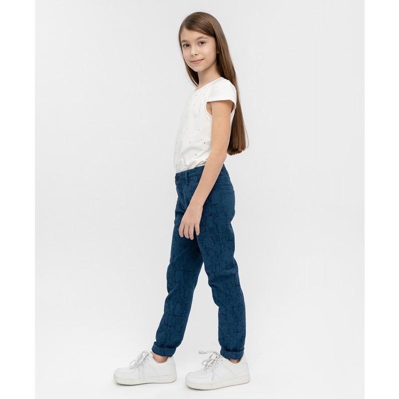 Синие жаккардовые брюки Button Blue (фото 3)