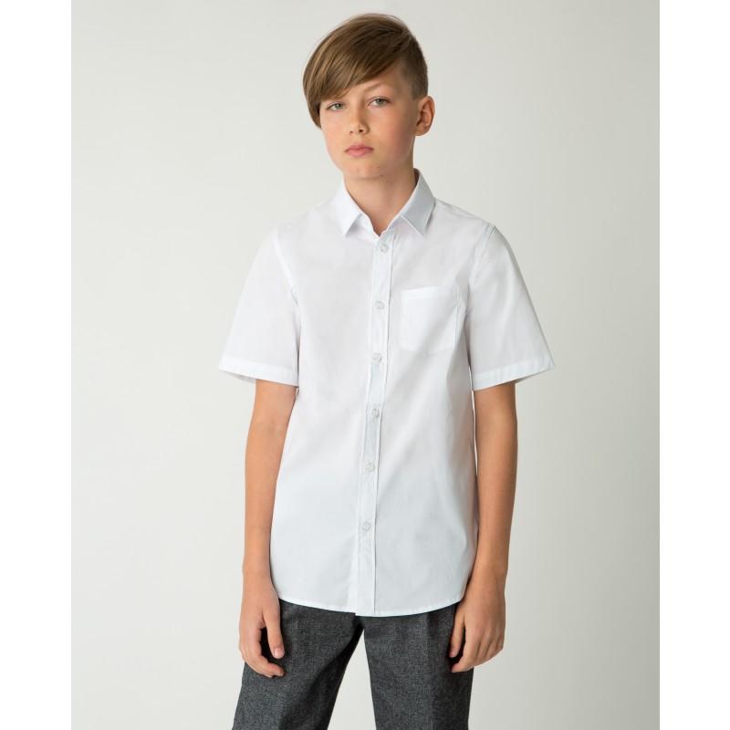 Белая рубашка с коротким рукавом Gulliver (фото 2)