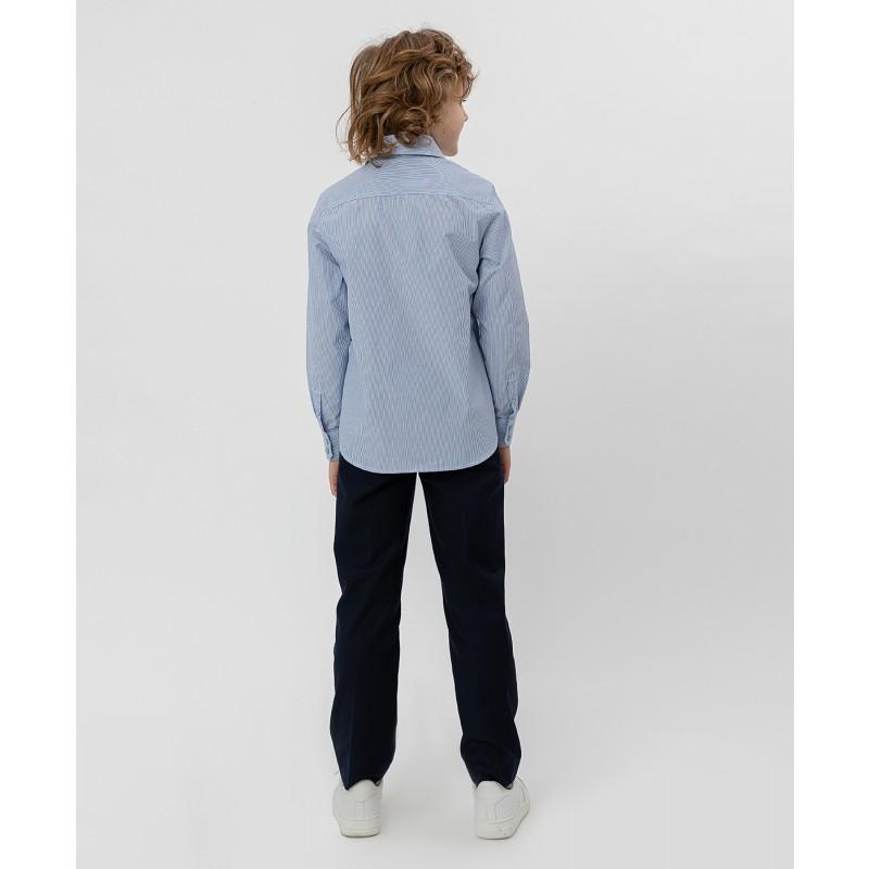 Голубая рубашка в полоску Button Blue (фото 4)