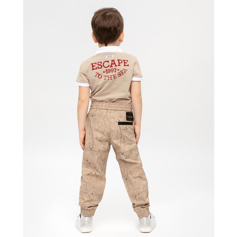 Бежевые брюки с принтом Gulliver (фото 3)