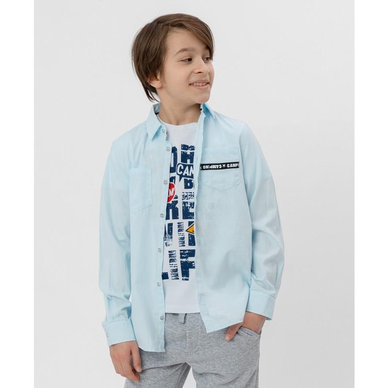 Рубашка с принтом Button Blue