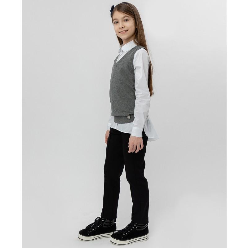 Серый трикотажный жилет Button Blue (фото 3)