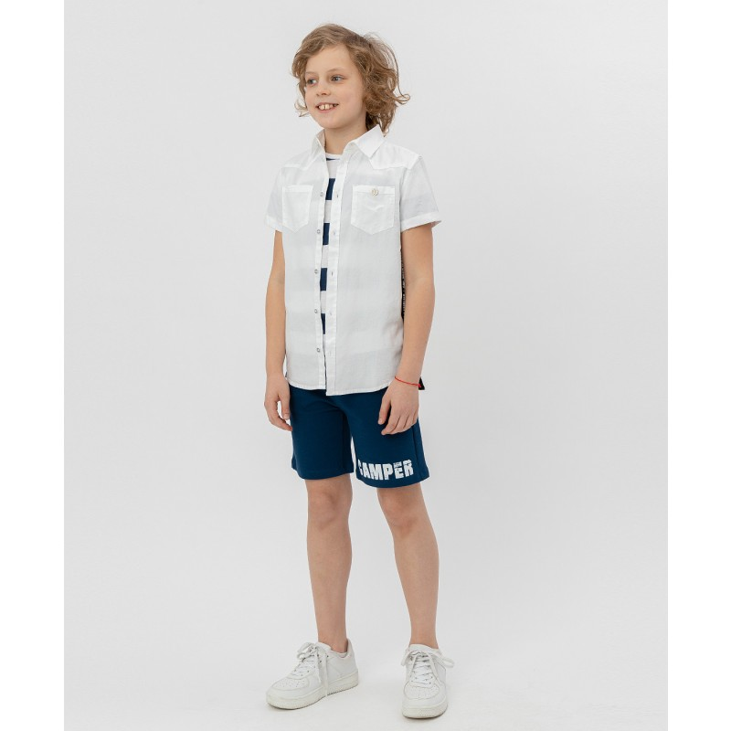 Белая рубашка с коротким рукавом Button Blue (фото 2)