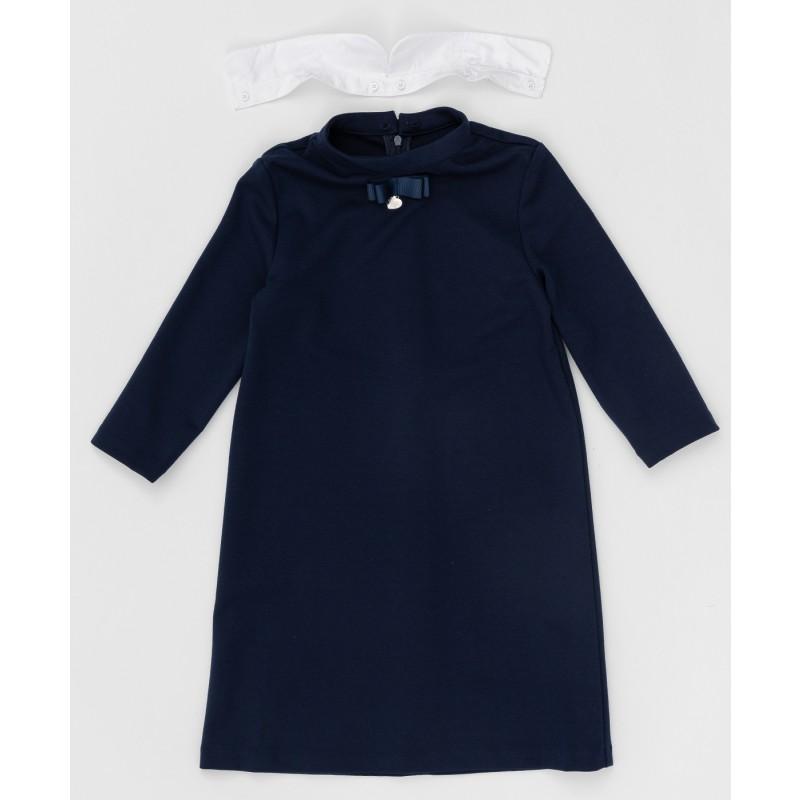 Синее платье с рукавом 3/4 Button Blue (фото 2)