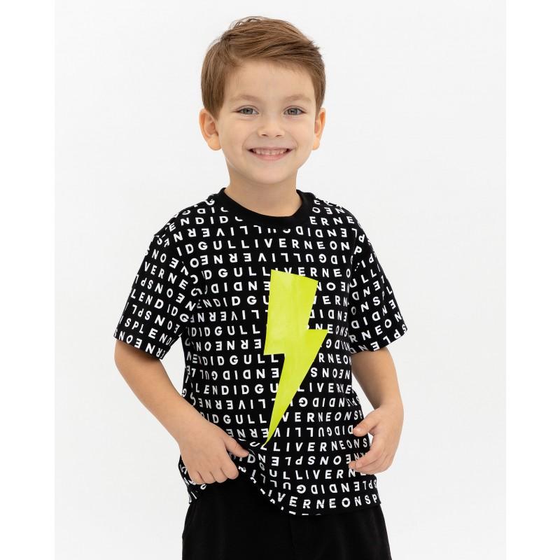 Черная футболка с принтом Gulliver (фото 4)
