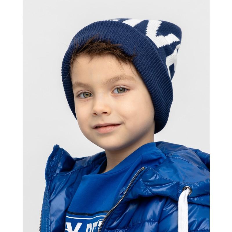 Синяя вязаная шапка Gulliver (фото 2)