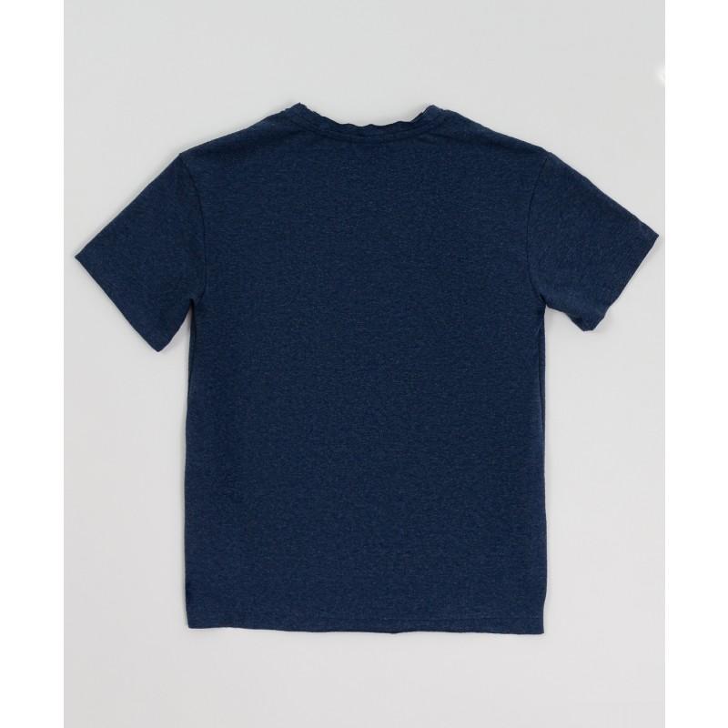 Синяя футболка с принтом Button Blue (фото 2)
