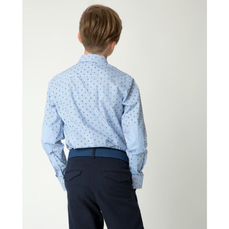 Голубая рубашка с принтом Gulliver (фото 2)