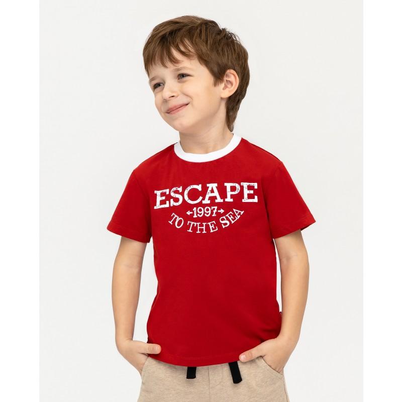 Красная футболка с принтом Gulliver