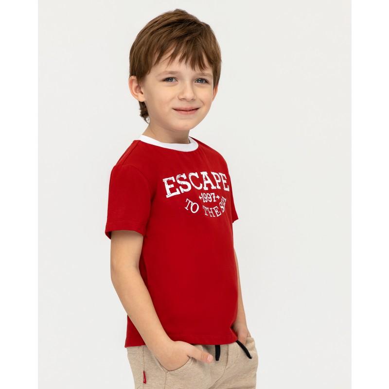 Красная футболка с принтом Gulliver (фото 2)