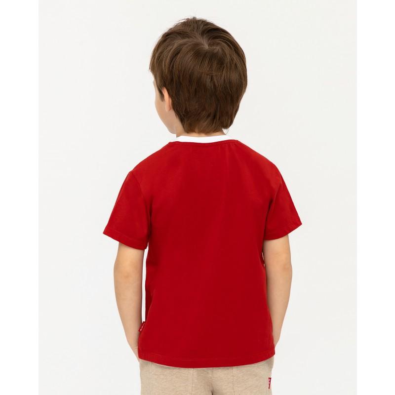 Красная футболка с принтом Gulliver (фото 4)