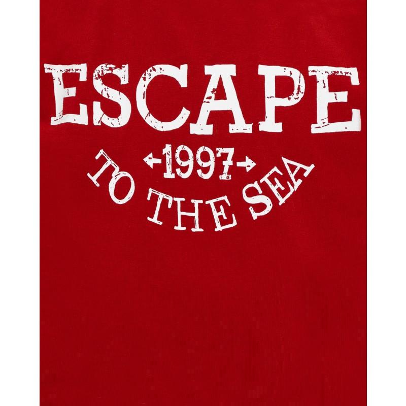Красная футболка с принтом Gulliver (фото 5)