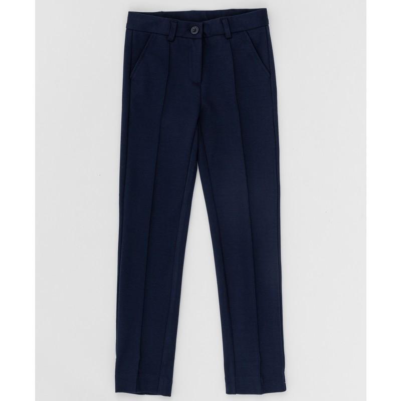 Синие трикотажные брюки Button Blue