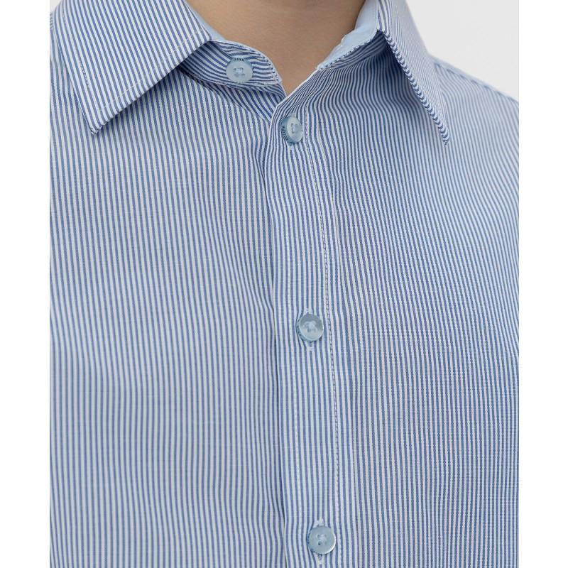 Голубая рубашка в полоску Button Blue (фото 5)