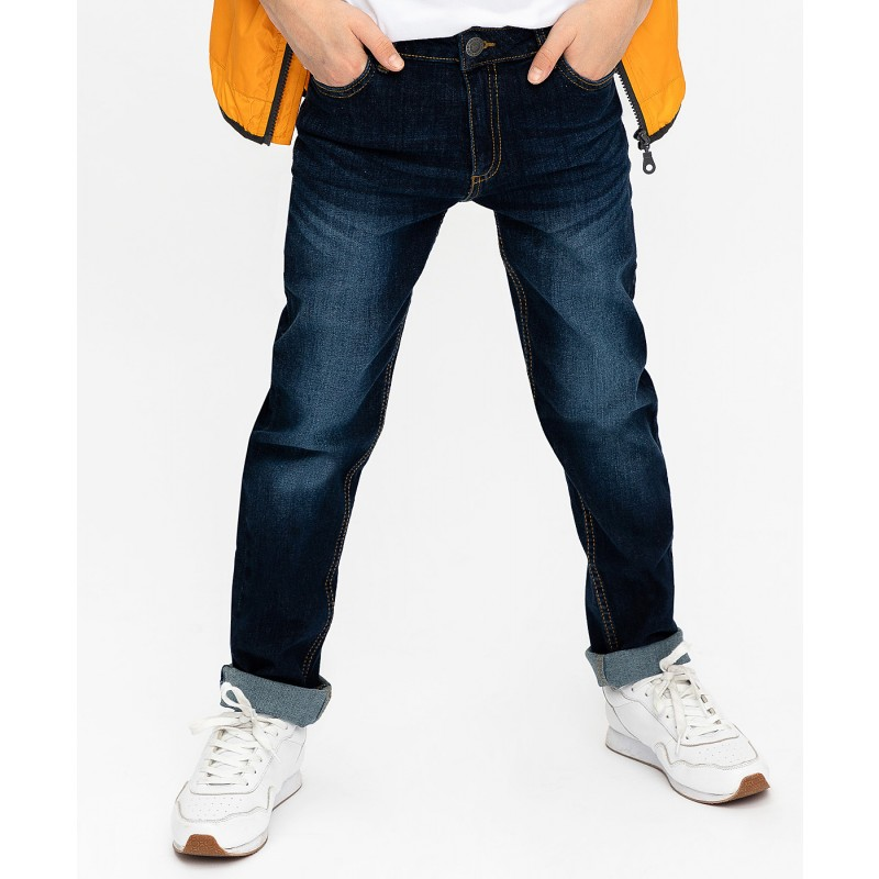 Темно-синие джинсы Regular Fit Button Blue (фото 2)