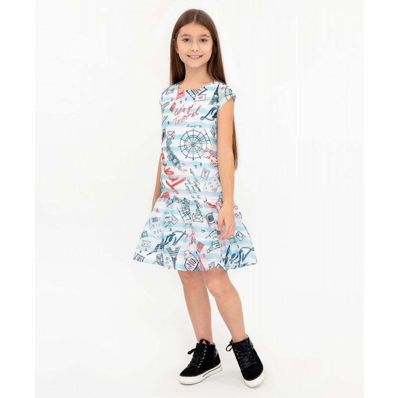 Платье с орнаментом Button Blue