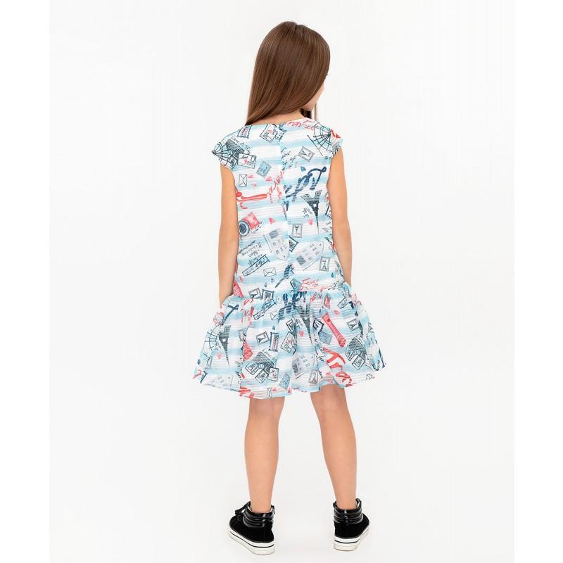 Платье с орнаментом Button Blue (фото 4)